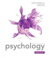 Psychology (paperback) by Saundra K. Ciccarelli and J. Noland White (2014,...