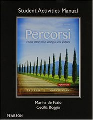 Student Activities Manual for Percorsi 3rd Edition 9780205999194 0205999190