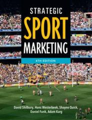 Strategic Sport Marketing 4th Edition 9781743314777 1743314779