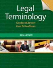Legal Terminology 6th Edition 9780133766974 0133766977