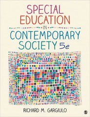 Special Education in Contemporary Society 5th Edition 9781452216775 1452216770