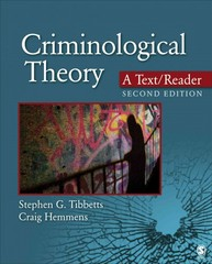 Criminological Theory 2nd Edition 9781452258157 1452258155
