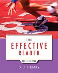 The Effective Reader 4th Edition 9780321845658 032184565X