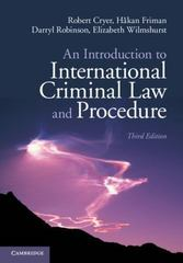 An Introduction to International Criminal Law and Procedure 3rd Edition 9781107698833 1107698839