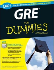 1,001 GRE Practice Questions For Dummies (+ Free Online Practice) 1st Edition 9781118825686 1118825683