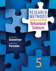 Research Methods for the Behavioral Sciences 5th Edition 9781305104136 1305104137