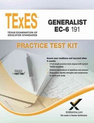 Texes Generalist Ec-6 191 Practice Test Kit 1st Edition 9781607873969 1607873966