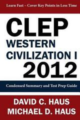 Clep Western Civilization 1 - 2012 1st Edition 9781611045949 1611045940