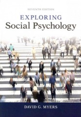 Exploring Social Psychology 7th Edition 9780077825454 0077825454