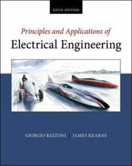 Principles and Applications of Electrical Engineering 6th Edition 9780073529592 0073529591