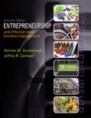 Entrepreneurship and Effective Small Business Management 11th Edition 9780133506327 0133506320