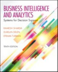Business Intelligence and Analytics 10th Edition 9780133401936 0133401936