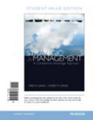 Strategic Management 15th Edition 9780133740363 0133740366