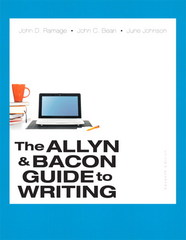 The Allyn & Bacon Guide to Writing 7th Edition 9780321914224 0321914228