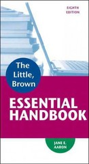 The Little, Brown Essential Handbook 8th Edition 9780321920324 0321920325