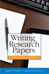 Writing Research Papers 15th Edition 9780321952950 0321952952