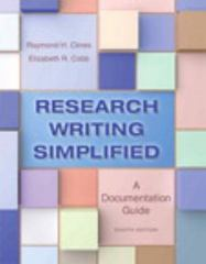 Research Writing Simplified 8th Edition 9780321953483 0321953487