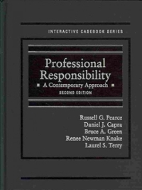Professional Responsibility 2nd Edition 9780314287816 0314287817