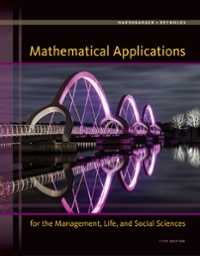 Mathematical Applications for the Management, Life, and Social Sciences 11th Edition 9781305108042 1305108043