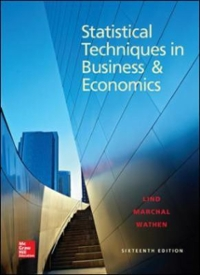 Statistical Techniques in Business and Economics 16th Edition 9780078020520 0078020522