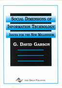 Social Dimensions of Information Technology 0 9781878289865 1878289861