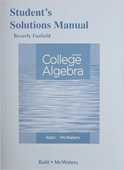 Student's Solutions Manual for College Algebra 3rd Edition 9780321917430 032191743X