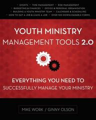 Youth Ministry Management Tools 2. 0 1st Edition 9780310516859 0310516854