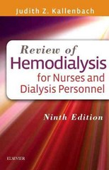 Review of Hemodialysis for Nurses and Dialysis Personnel 9th Edition 9780323299947 0323299946