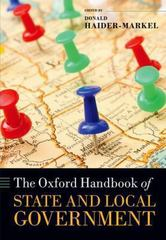 The Oxford Handbook of State and Local Government 1st Edition 9780199579679 0199579679