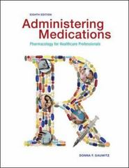 Administering Medications 8th Edition 9780073518220 0073518220