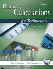 Pharmacy Calculations for Technicians with Study Partner CD 5th Edition 9780763852214 076385221X