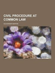 Civil Procedure at Common Law 0 9781230449043 1230449043