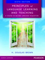 Principles of Language Learning and Teaching 6th Edition 9780133041941 0133041948