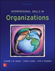 Interpersonal Skills in Organizations 5th Edition 9780078112805 007811280X