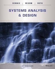 Systems Analysis and Design 6th Edition 9781118897843 1118897846