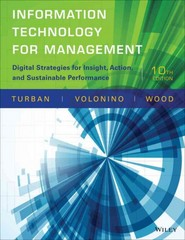 Information Technology for Management 10th Edition 9781118897782 1118897781