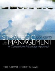 Strategic Management 15th Edition 9780133444896 0133444899