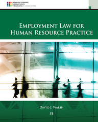 Employment Law for Human Resource Practice 5th Edition 9781305112124 1305112121