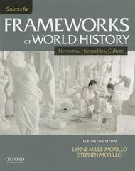 Sources for Frameworks of World History 1st Edition 9780199332274 0199332274