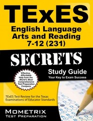 TExES English Language Arts and Reading 7-12 (231) Secrets Study Guide 1st Edition 9781627339964 1627339965