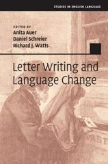 Letter Writing and Language Change 1st Edition 9781107018648 1107018641