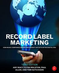 Record Label Marketing 3rd Edition 9780415715140 0415715148