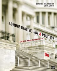 Administrative Law and Politics 5th Edition 9781452240404 145224040X