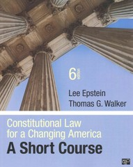 Constitutional Law for a Changing America 1st Edition 9781483307800 1483307808