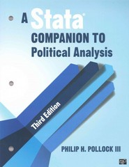 A Stata Companion to Political Analysis 3rd Edition 9781452240428 1452240426