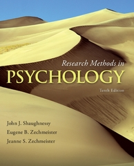 Research Methods in Psychology 10th Edition 9780077825362 0077825365