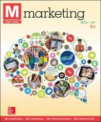 M: Marketing 4th Edition 9780077861025 0077861027