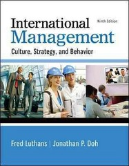 International Management 9th Edition 9780077862442 0077862449