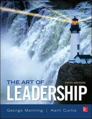 The Art of Leadership 5th Edition 9780077862459 0077862457