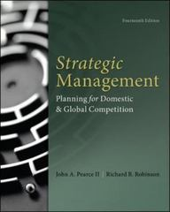 Strategic Management 14th Edition 9780077862510 0077862511